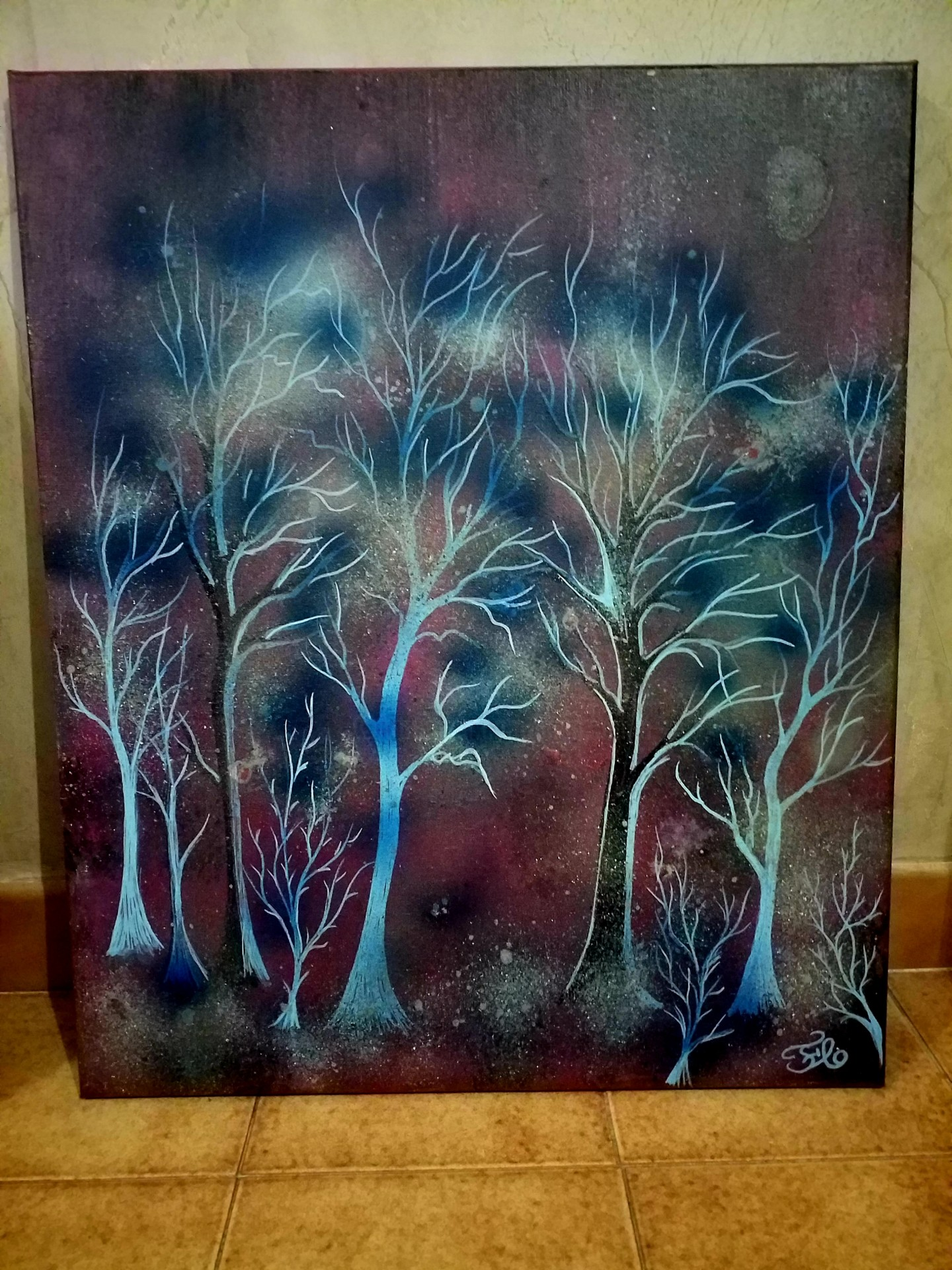 Florence Castelli  flofloyd - La forêt bleue