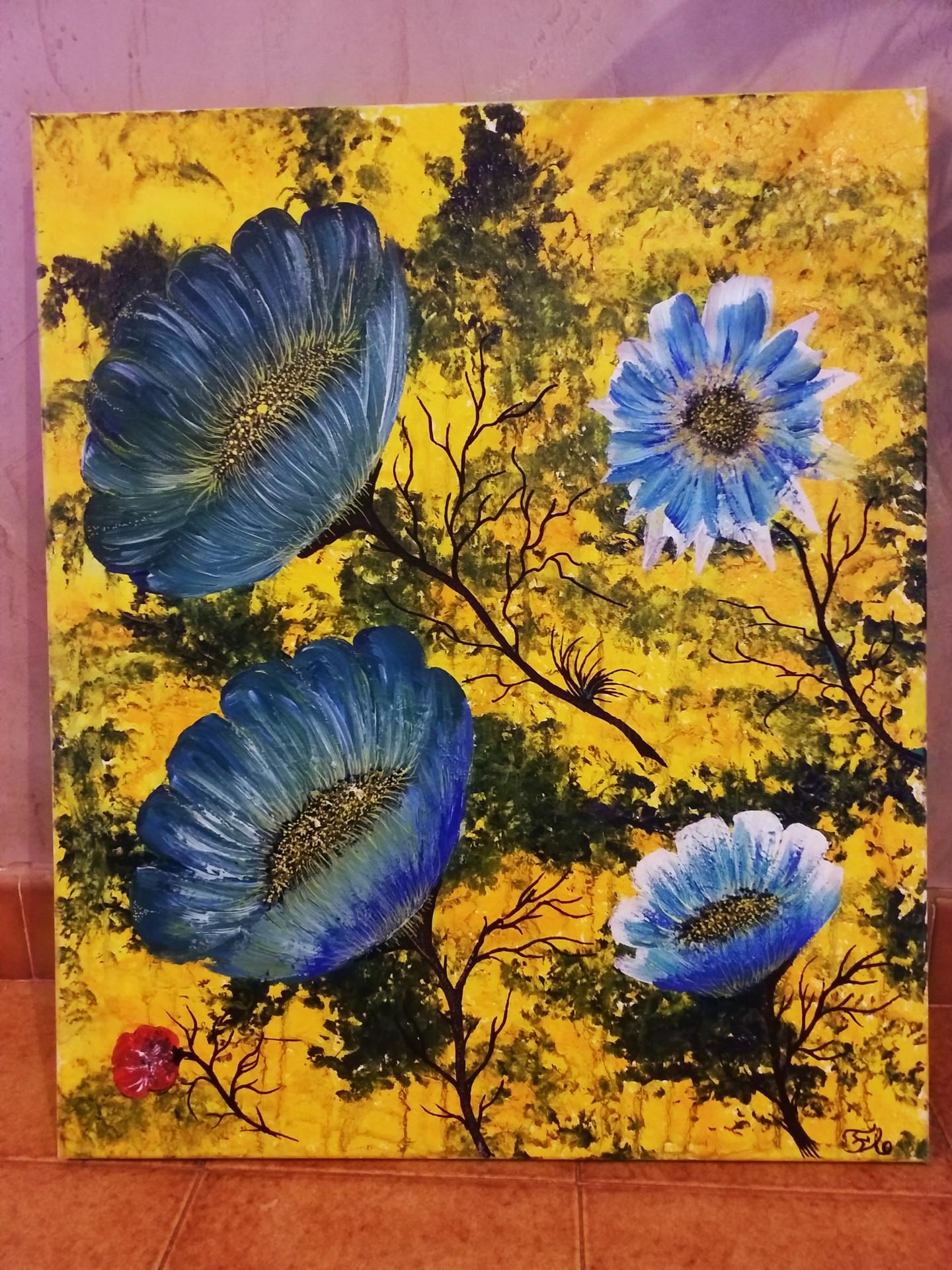 Florence Castelli  flofloyd - Des fleurs bleues