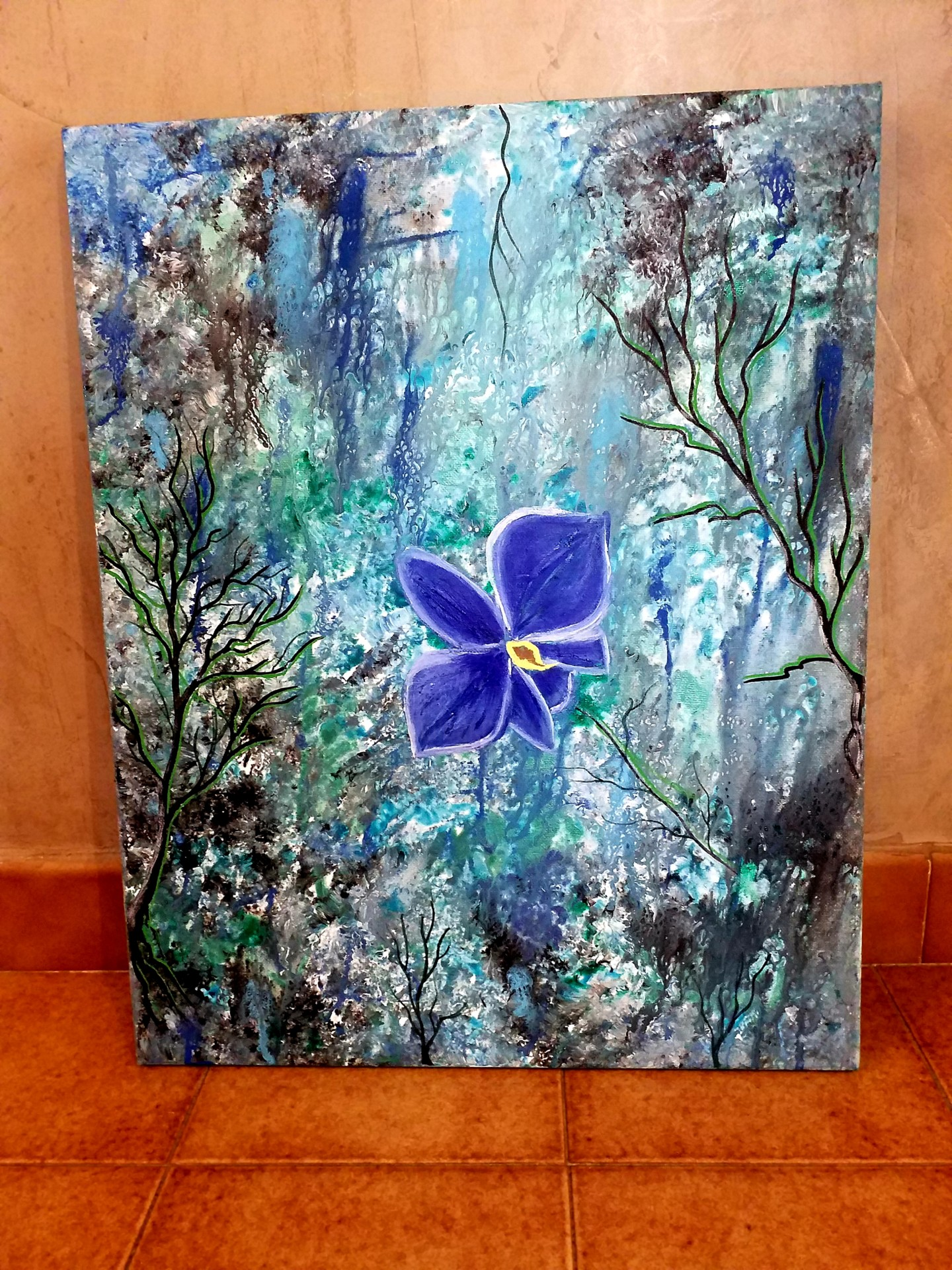 Florence Castelli  Flofloyd - La fleur bleue