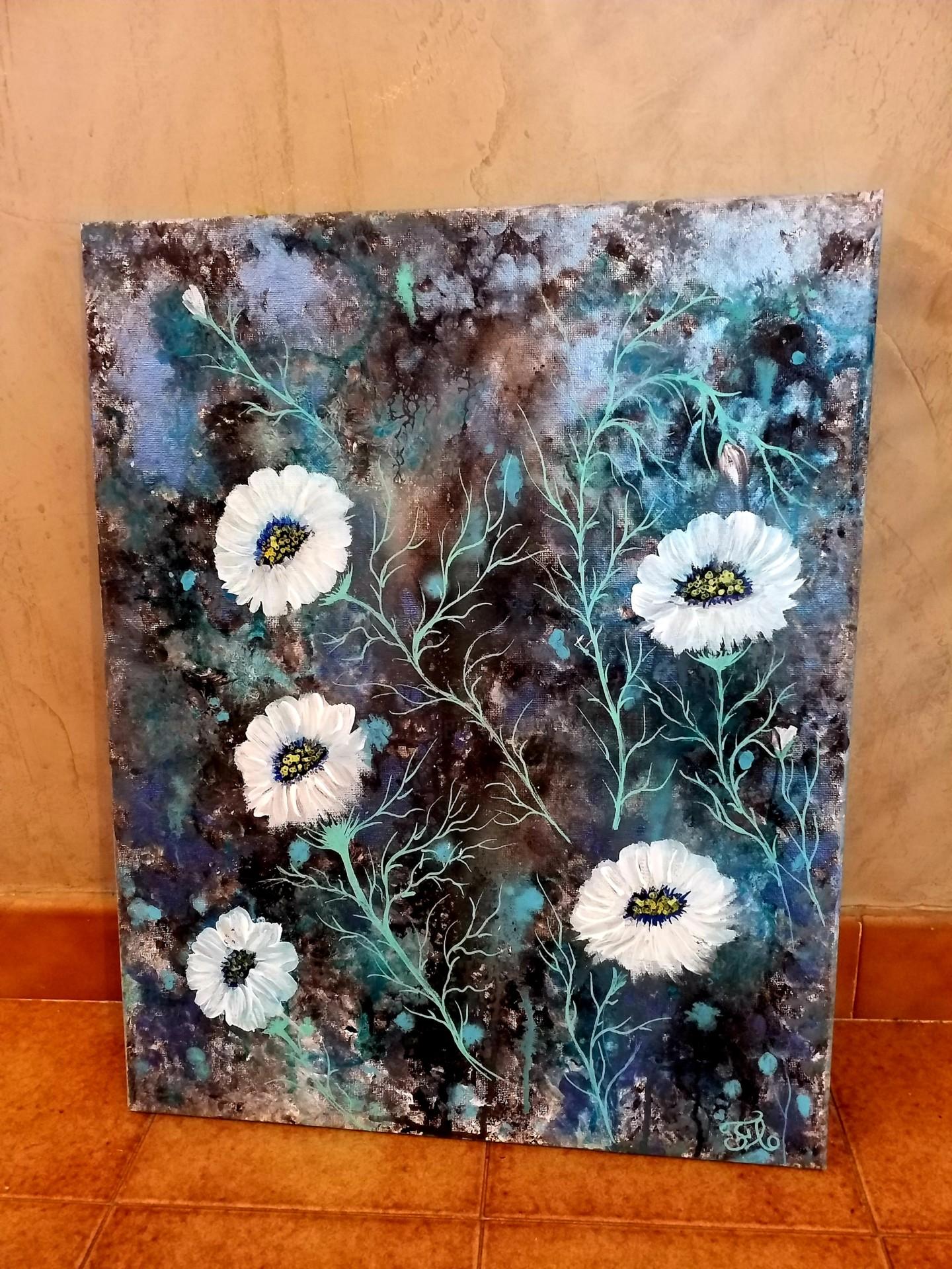 Florence Castelli  Flofloyd - Des fleurs blanches