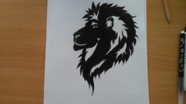 Dessin de tête de lion