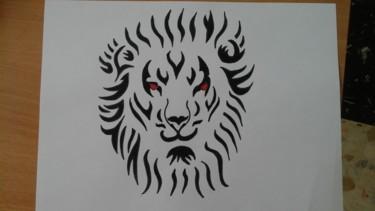Dessin de tête de lion 2