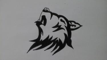 Dessin de tête de loup