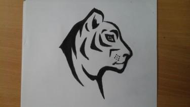 Dessin tête de tigre