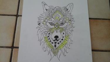 Dessin de tête de loup 1