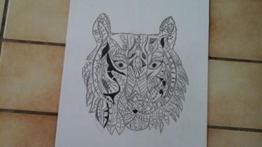 Dessin de tête de tigre 1