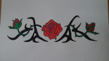 Dessin abstrait de fleurs