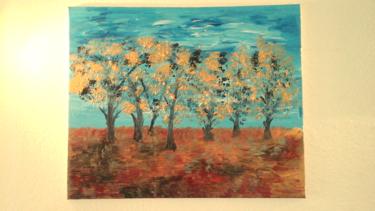 Tableau d arbres à l acrylique