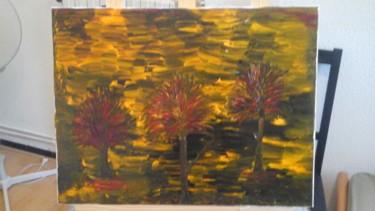 Peinture d arbres en Automne