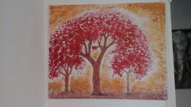 Tableau d arbres rouge