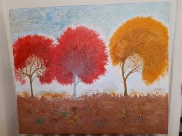 Des arbres rouge