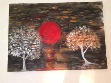 2 arbres sous la lune