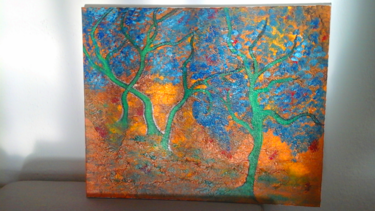 Des arbres bleus