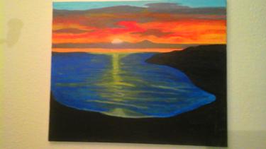 Couché de soleil sur la mer