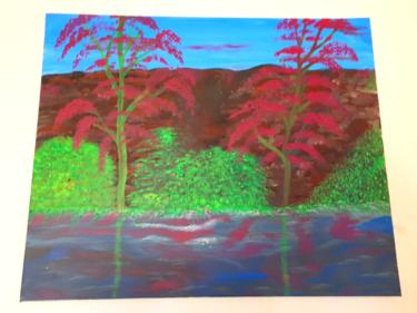 Tableau de paysage à l acrylique
