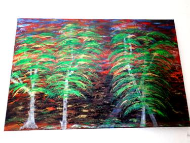 Tableau d arbres dans la nature