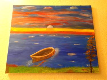 Une barque sur la mer