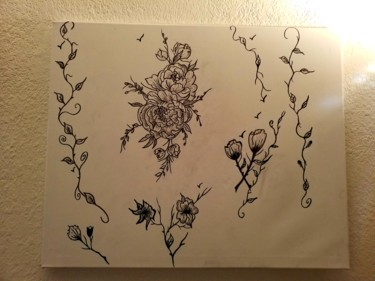 Dessin de fleurs aux feutres